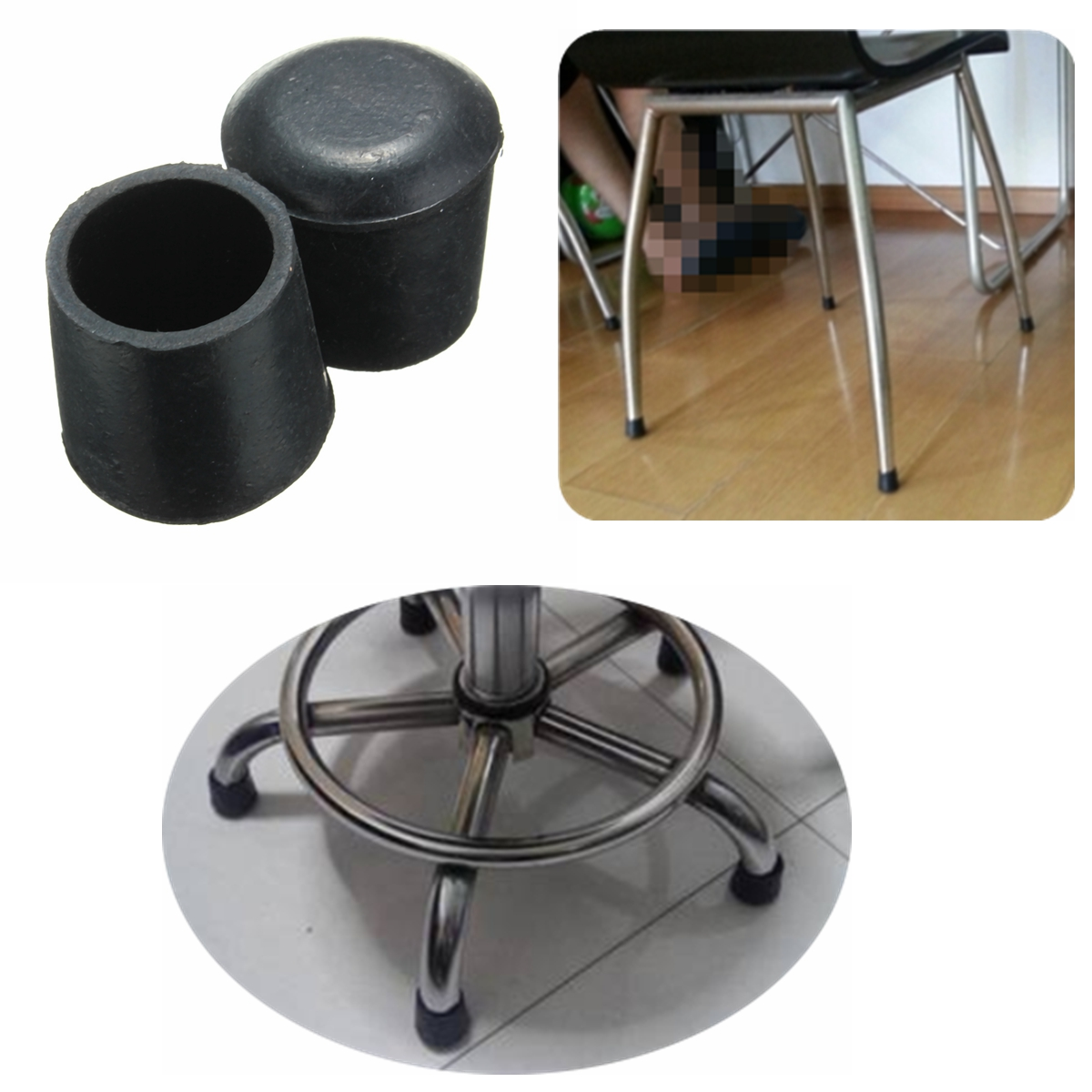 20pcs rubber table chair furniture feet leg tip pads floor Furniture wood floor protectors