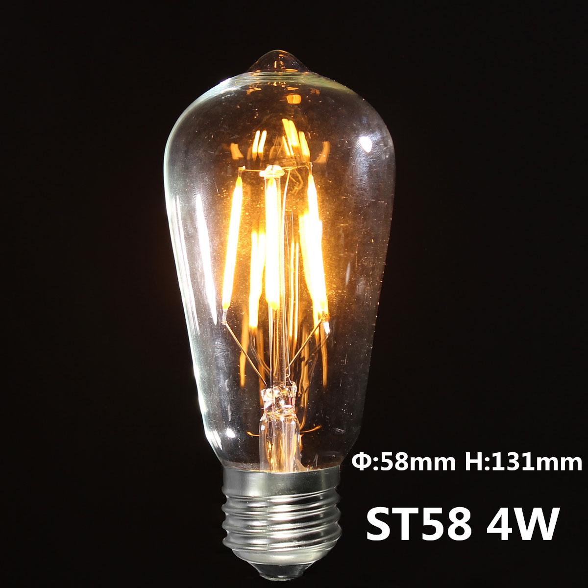 Edison Bulbs 4 Tier Led Vintage Light Bulb: 2/3/4W E27 ES COB LED Vintage Antique Edison Style Light
