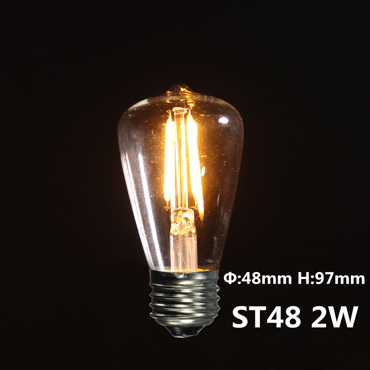 e27 led cob ampoule filament vintage r tro edison lampe bulb 2 3 4w 85 265v deco ebay. Black Bedroom Furniture Sets. Home Design Ideas