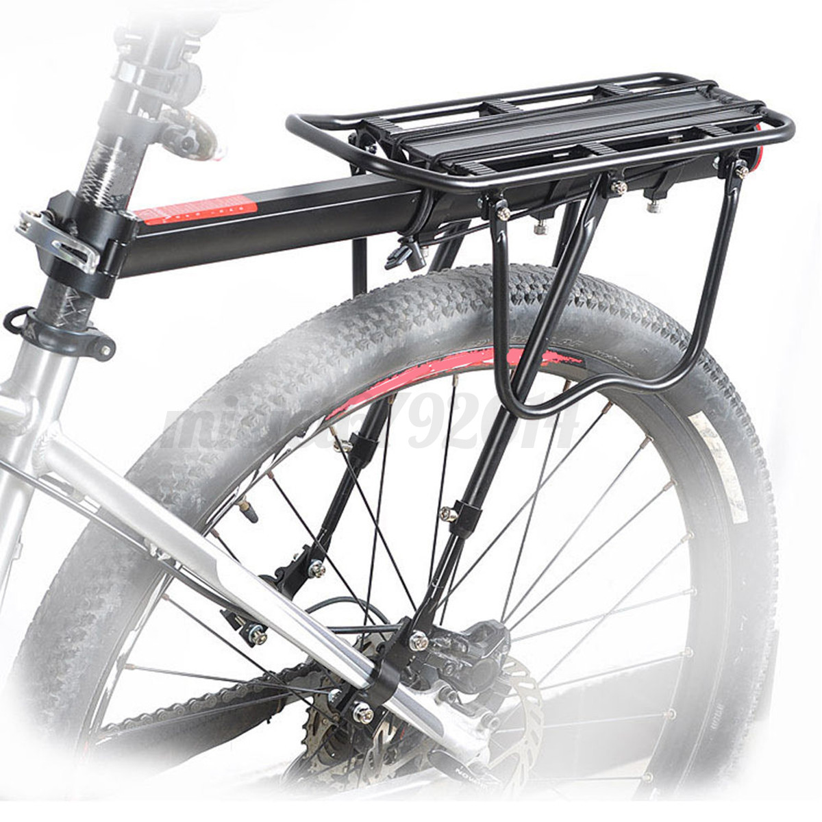 Bicycle Bike Alloy Rear Rack Pannier Carry Carrier ...