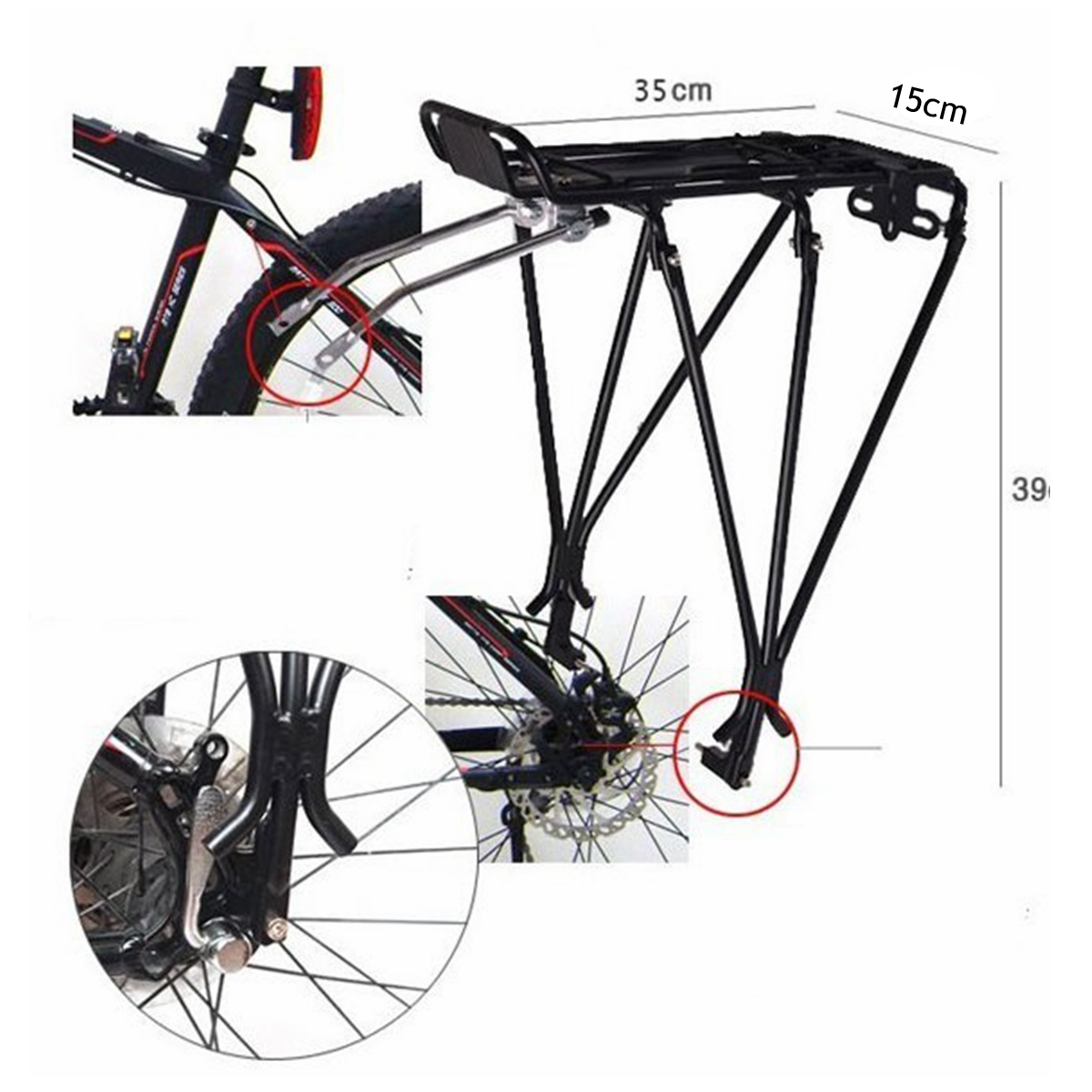 Cycling Bicycle Mountain Bike Rear Carrier Shelf Bracket