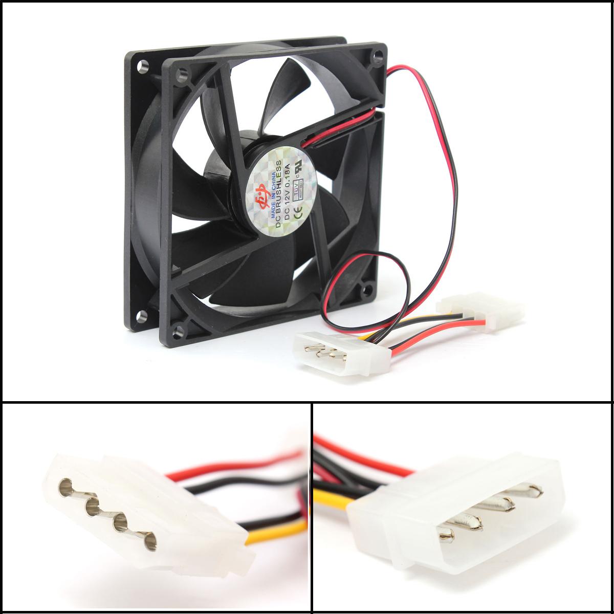 4x led ventilateur cpu fan bleu lumineux 4 pin ordinateur bureau laptop pc 80 mm ebay. Black Bedroom Furniture Sets. Home Design Ideas