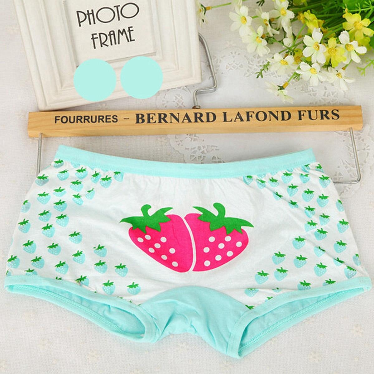Cotton Strawberry Kids Girls Brief Panty Underwear Children Shorts Accessories