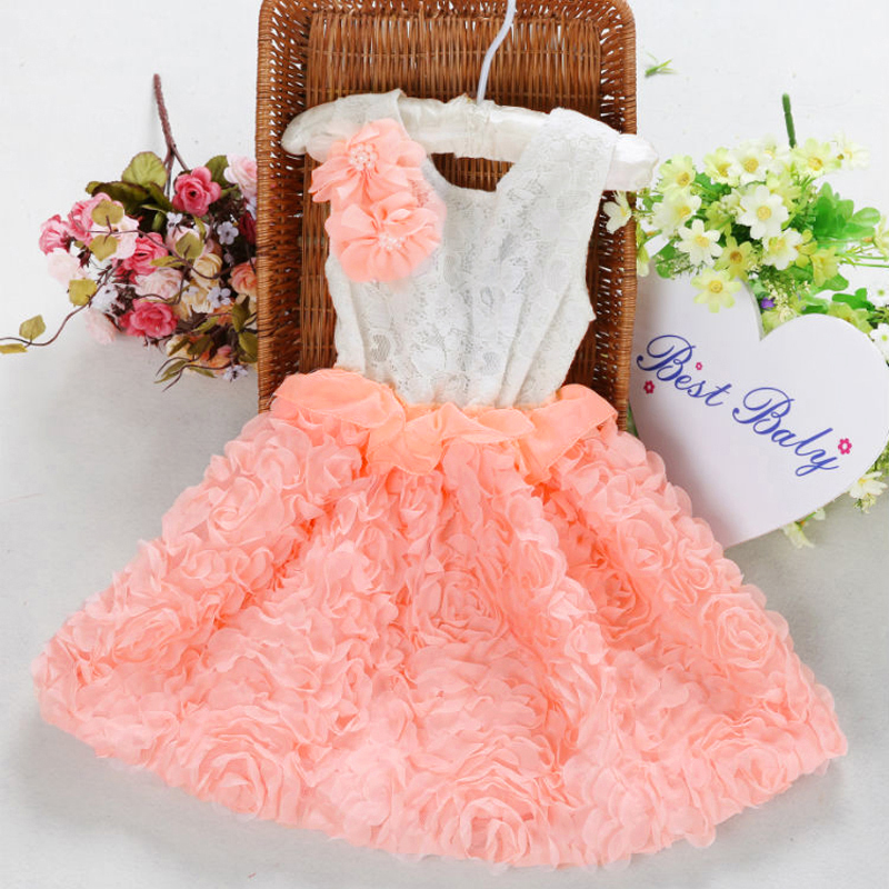 ❤Toddler Baby Kid Girl Princess Flower♥Pageant Party Ball Rose Dress 18M-6Y❤