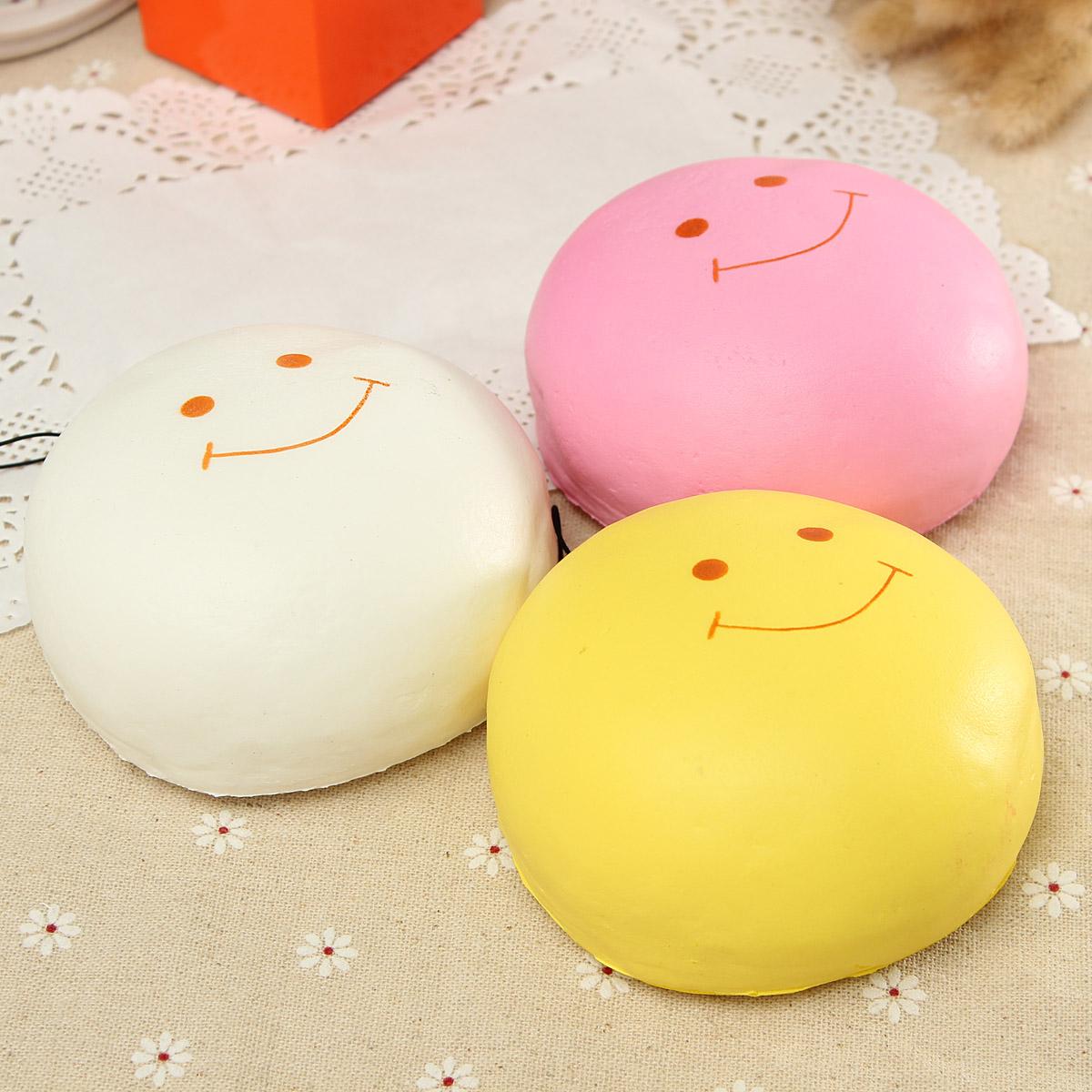 Squishy Jumbo Marshmallow : 10cm Jumbo Kawaii Smile Marshmallow Squishy Bread Keychain Bag Phone Charm Strap eBay