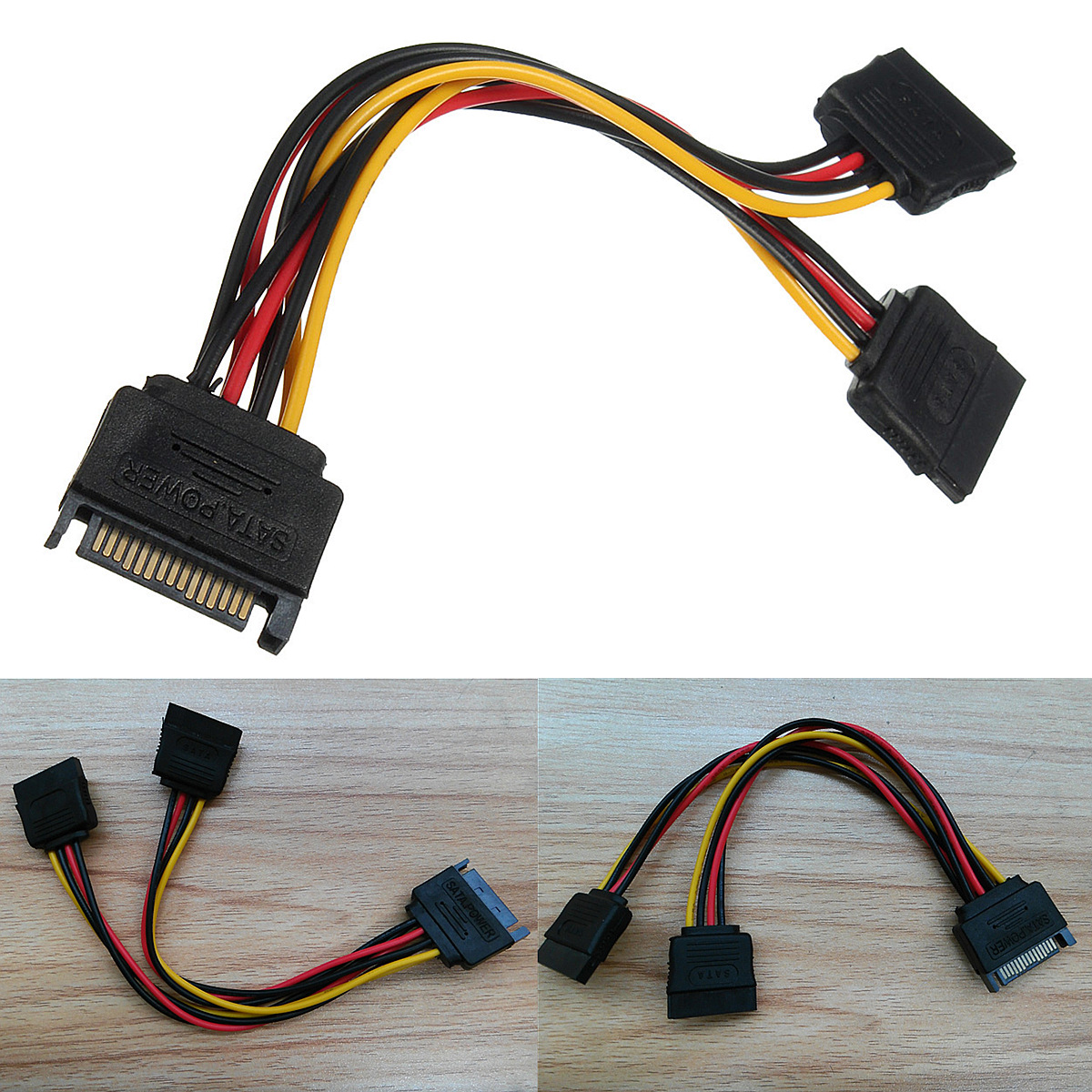 Sata Power Splitter : Pin sata male to female m f power splitter