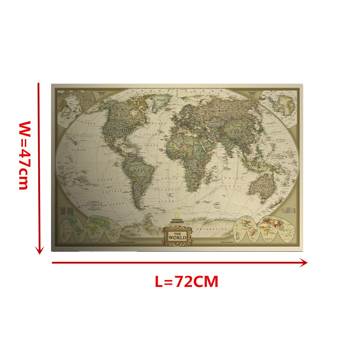 Antique vintage poster log the world map decor map giant of the antique vintage style retro poster log the world map decor giant source detail image gumiabroncs Gallery