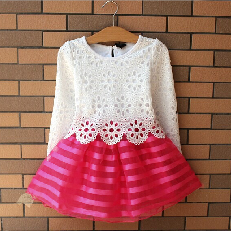 Baby Girl Kid Sleeveless/Long Sleeve Tutu Lace Flower Skirt Gown Dress 1-5Y 1pcs
