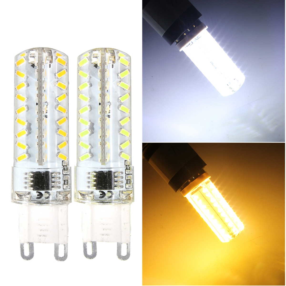 g4 g9 e14 3014 smd 5w 72 led dimmbar stecklampe stiftsockel birne silikon 220v ebay. Black Bedroom Furniture Sets. Home Design Ideas