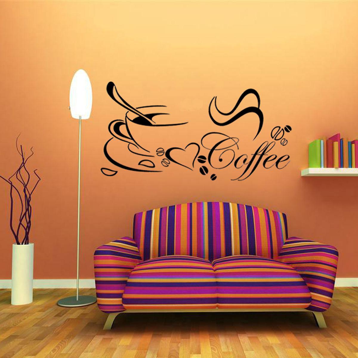 Taza de caf cocina coraz n belleza extra ble arte h galo for Pegatinas murales pared