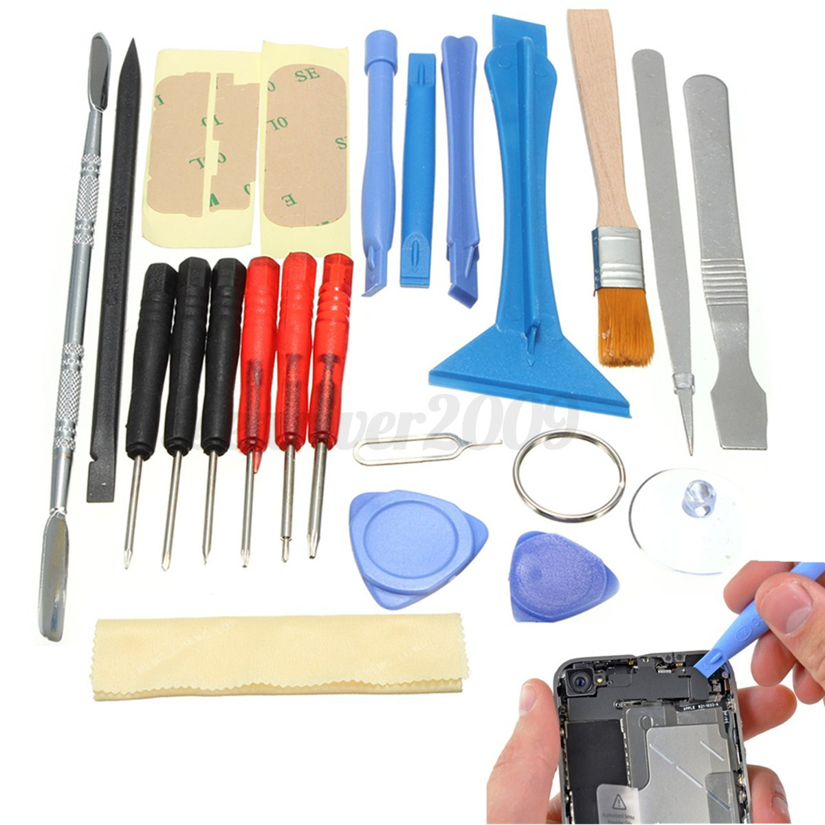 22 in 1 repair screwdriver spudger open pry tools set for iphone 6s 6 plus 5s 5 ebay. Black Bedroom Furniture Sets. Home Design Ideas
