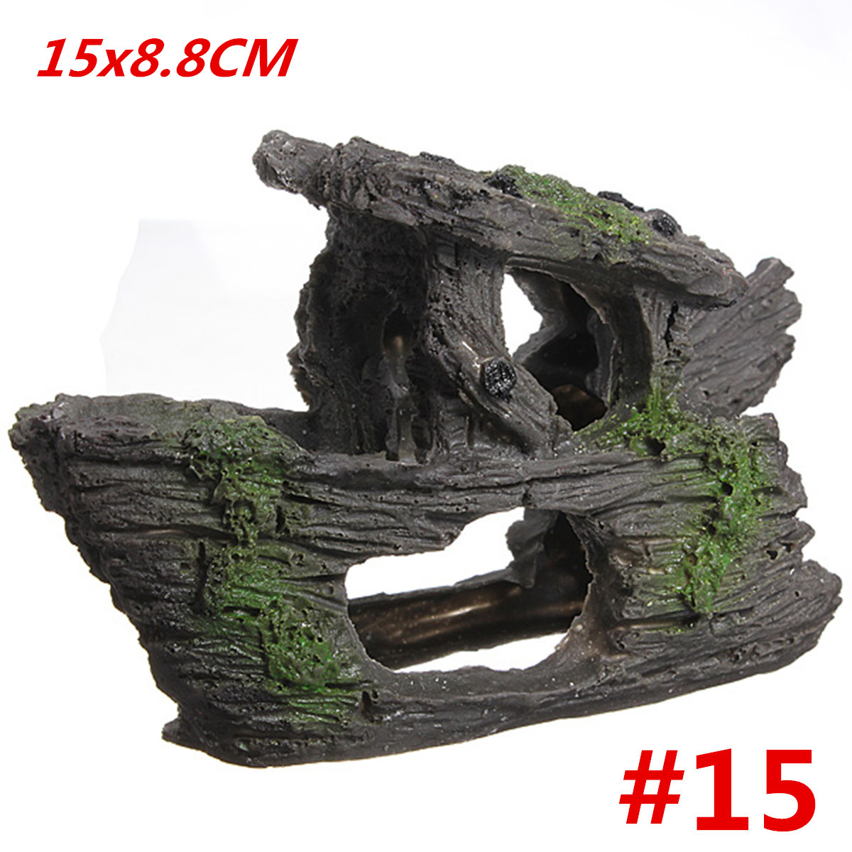 Bridge ship stump cave fish tank aquarium landscaping for Aquarium cave decoration