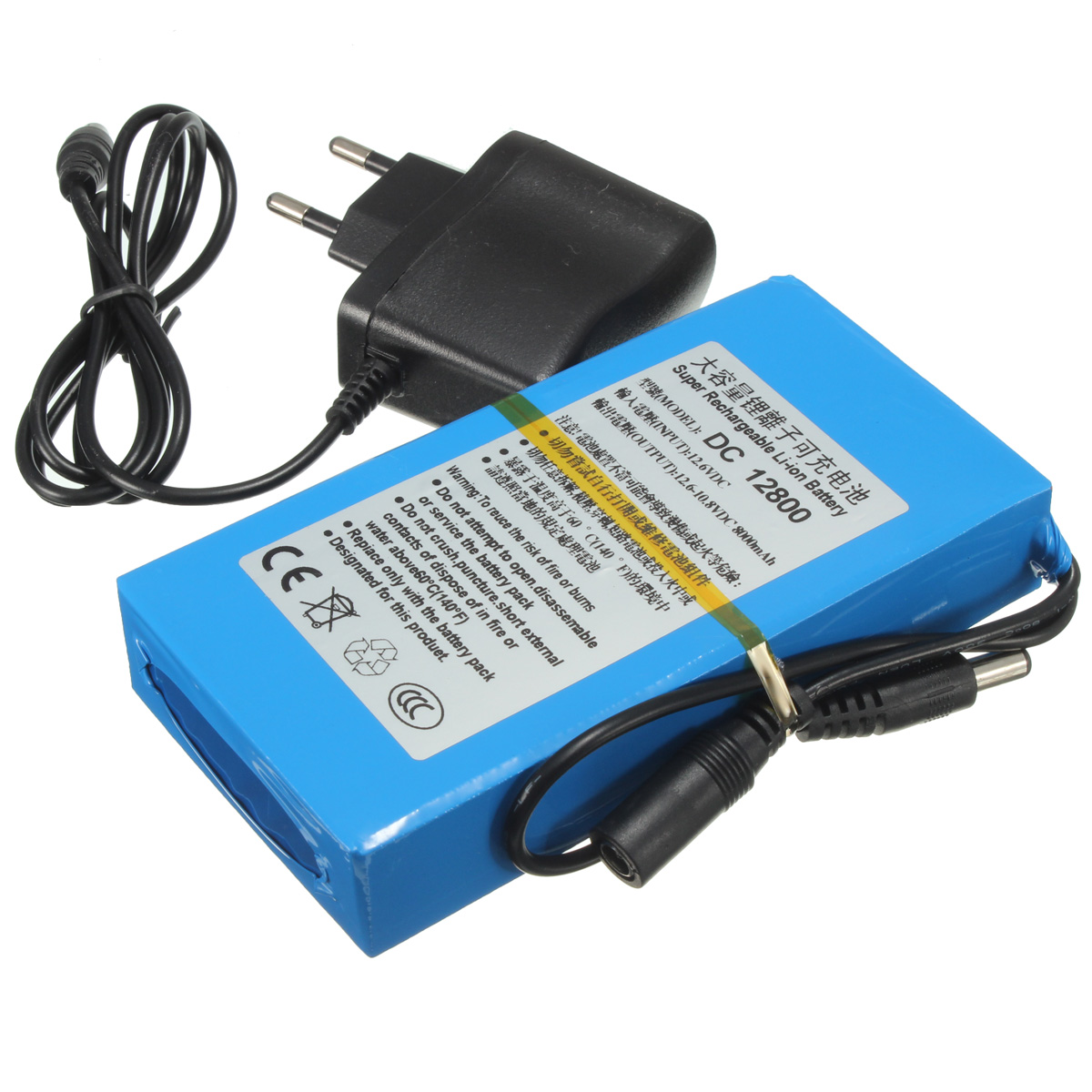 20000mah batterie dc 12v rechargeable lithium ion li ion eu plug chargeur power. Black Bedroom Furniture Sets. Home Design Ideas