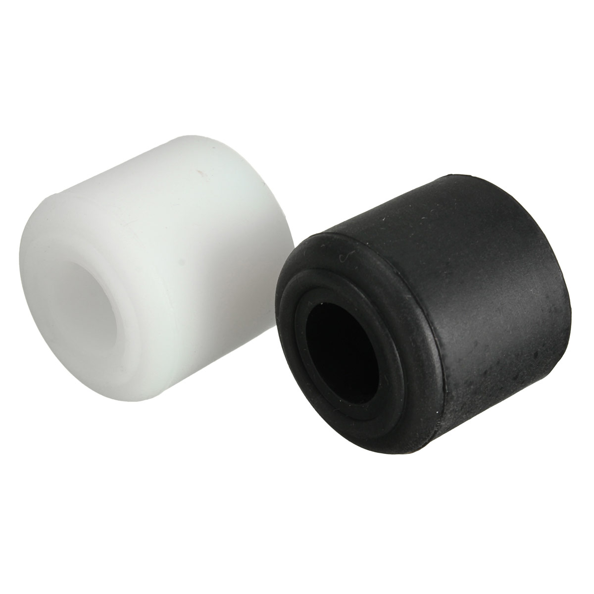 28mm rubber door stop stopper cylinder jam wedge door floor holder black white ebay - Door stoppers rubber ...