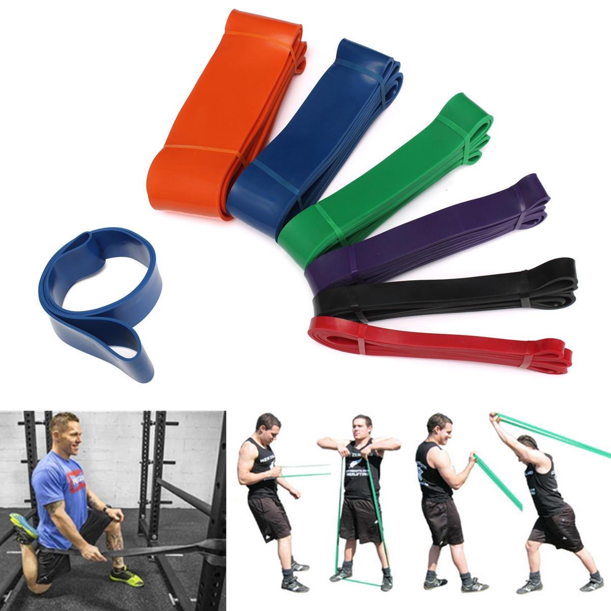 15-230lbs Resistance Workout Exercise Bands Loop Strength ...