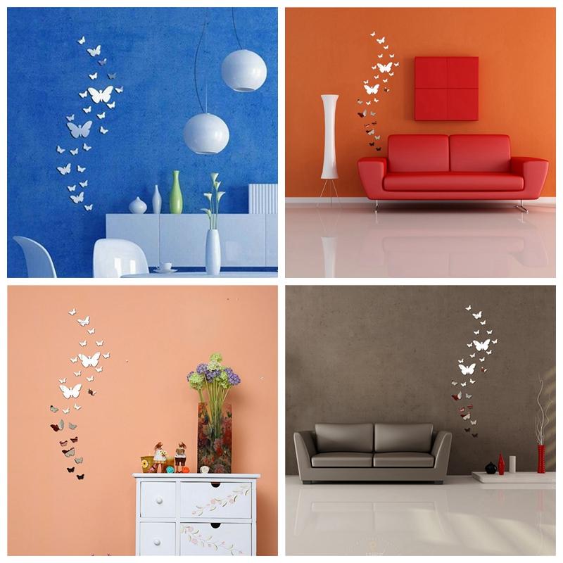 18 styles sticker autocollant miroir autocollant murale - Stickers couloir maison ...