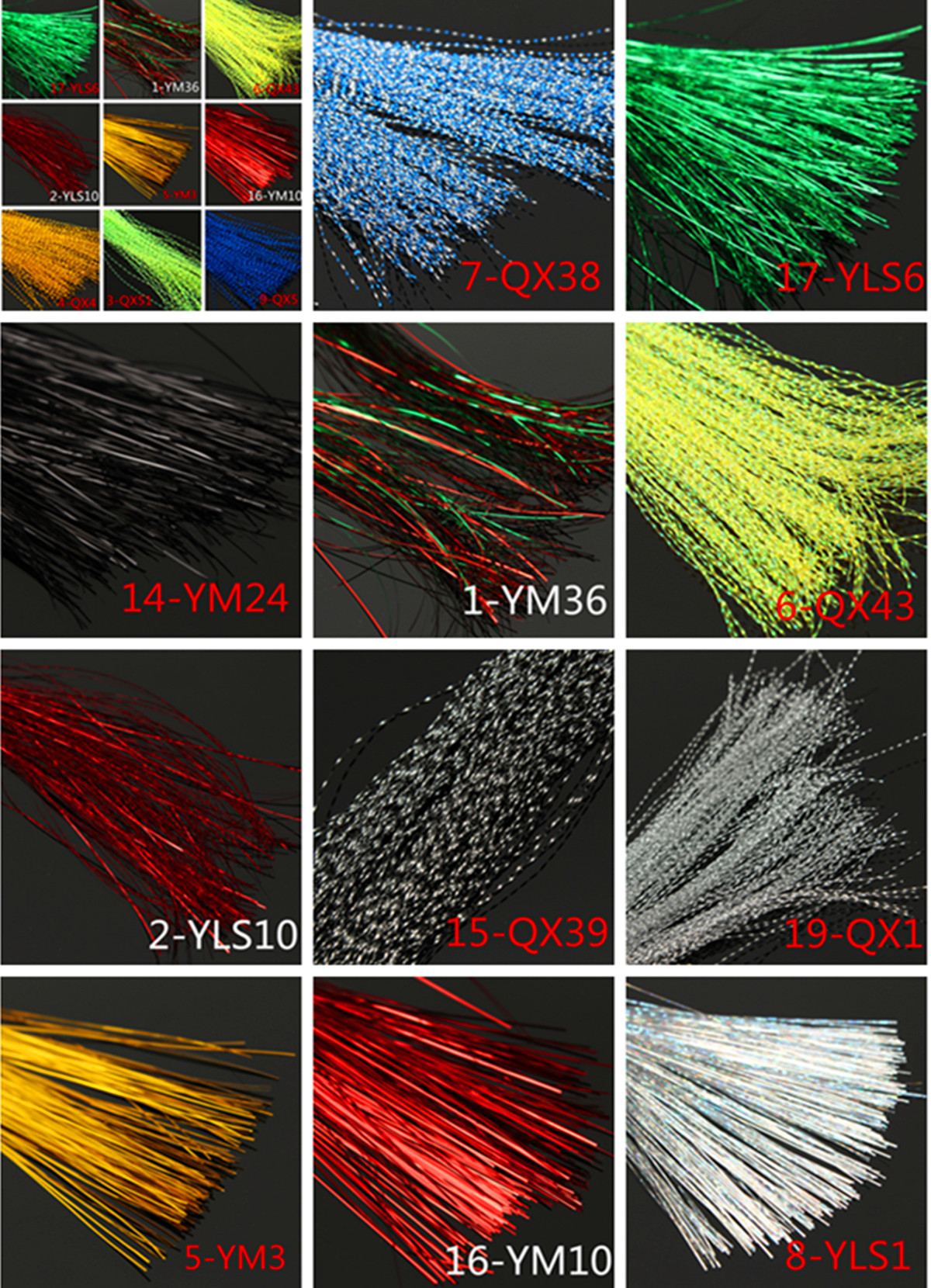 150pcs Bag Crystal Flash Fly Tying Material Krystal