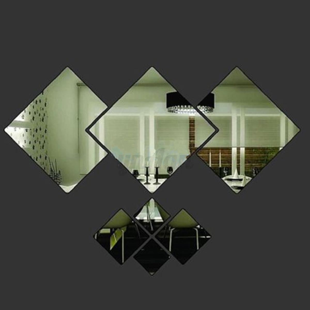 Pvc diy removibile adesivi da parete specchio muro wall sticker ...