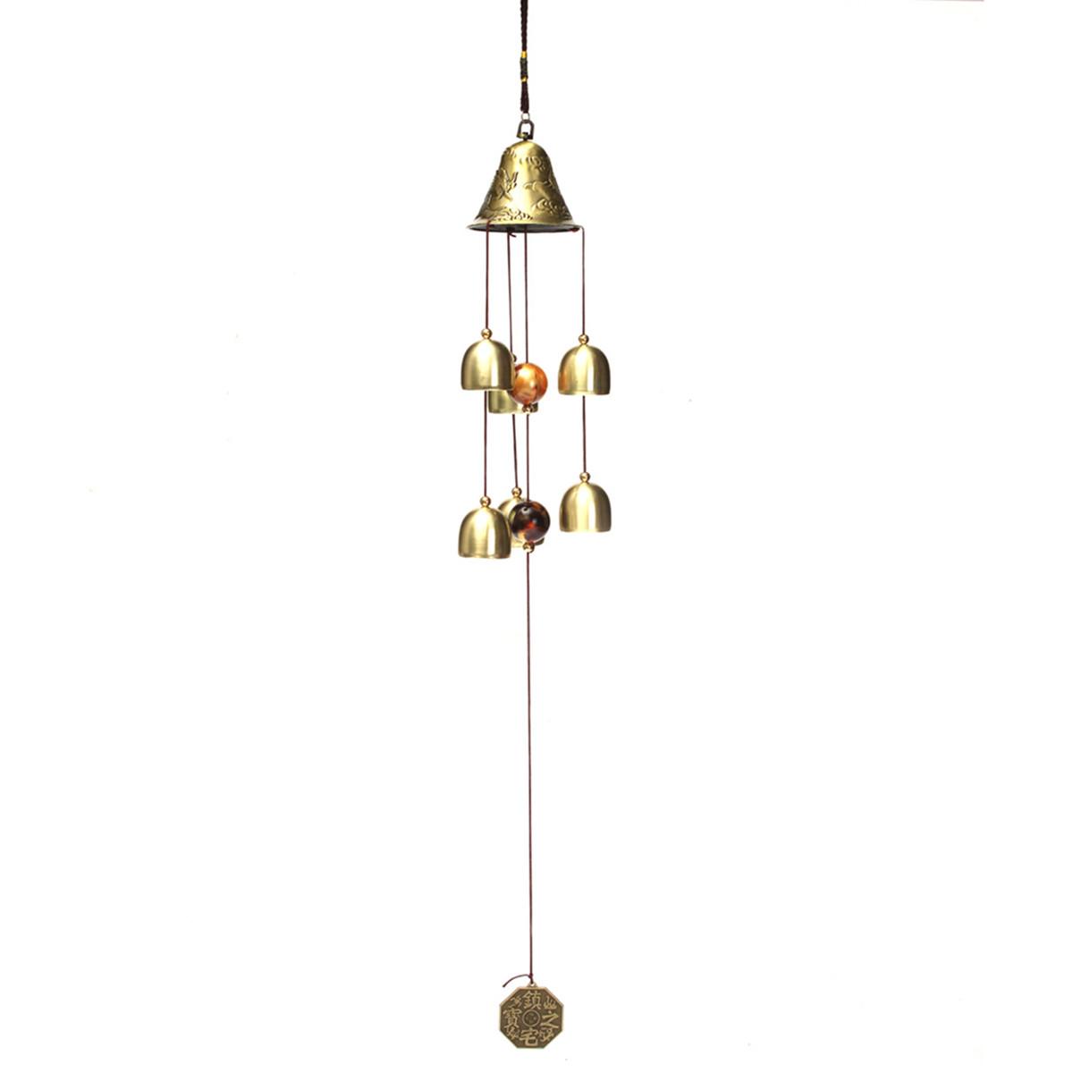 klangspiel 6 glocke 60cm windspiel messing metall feng. Black Bedroom Furniture Sets. Home Design Ideas