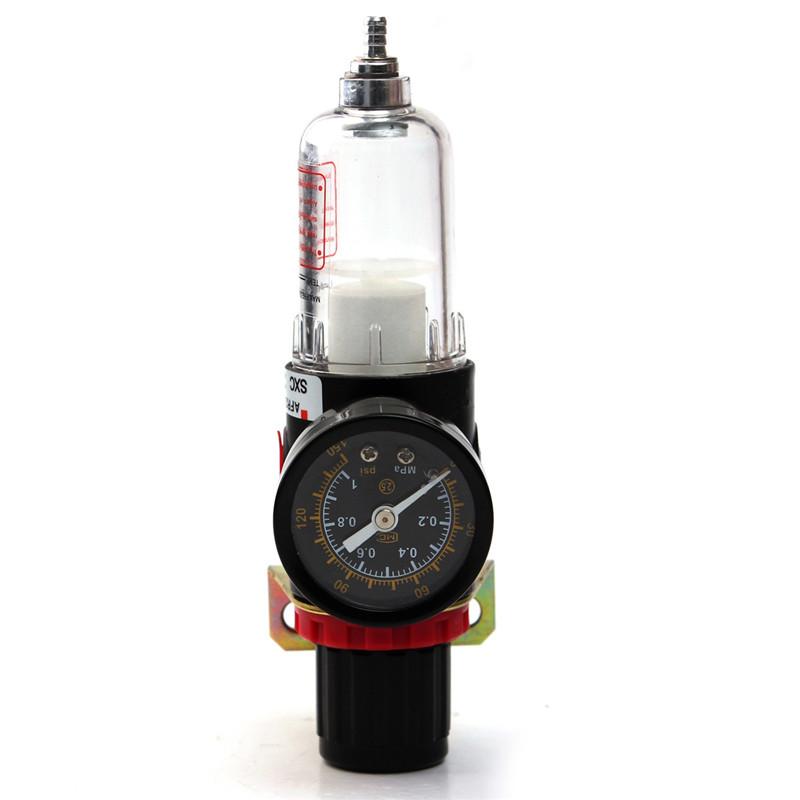 airbrush compressor air pressure regulator gauge water trap moisture filter hose ebay. Black Bedroom Furniture Sets. Home Design Ideas