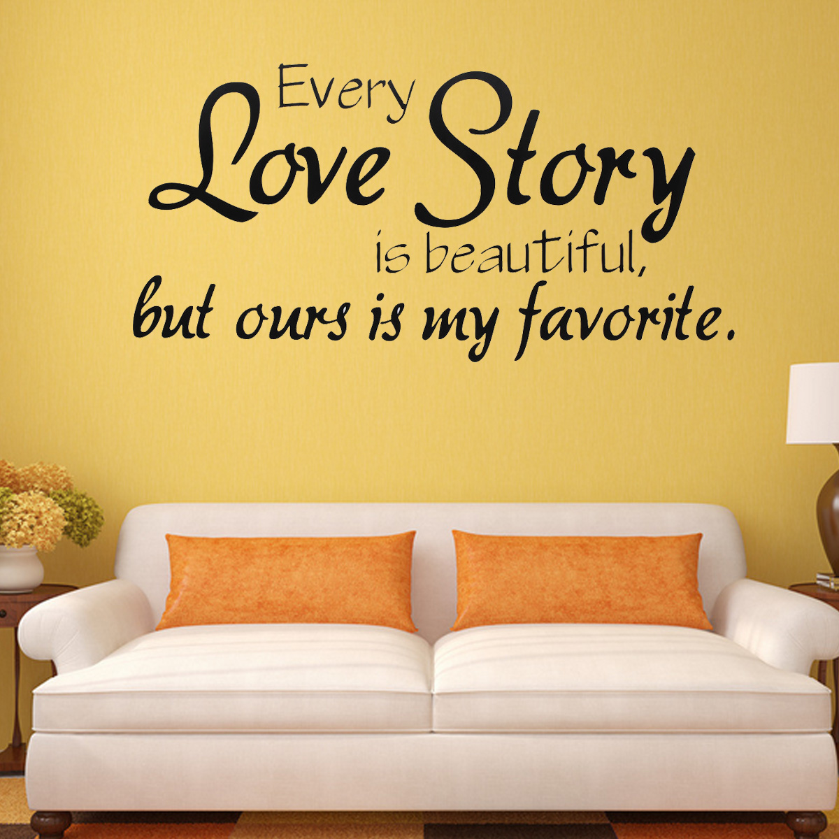 New every love story is beautiful decor removable vinyl wall decal quote sticker ebay - Latest beautiful wall decoration ...