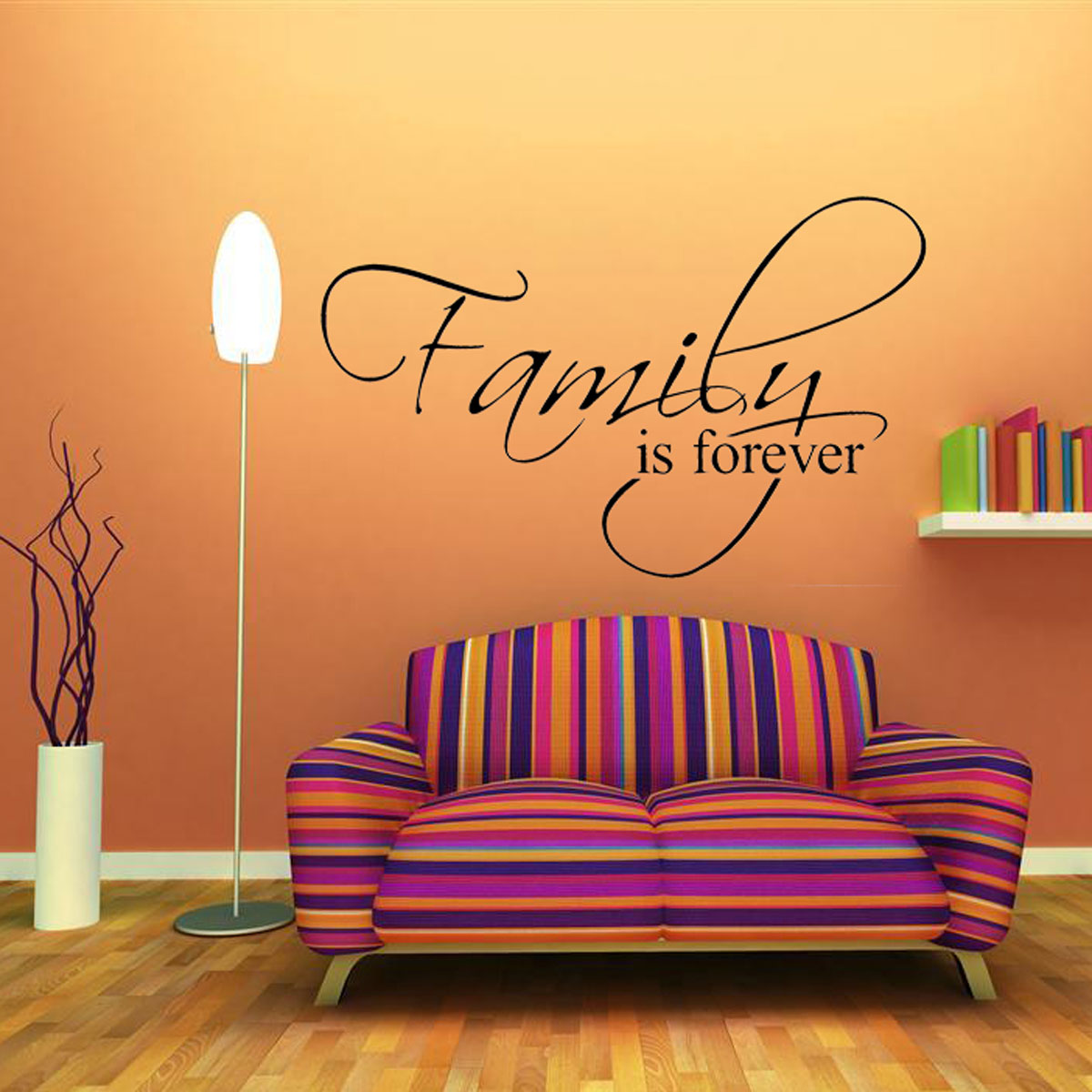 Family diy quote removable art wall sticker mirror decal for Diy photo wall mural