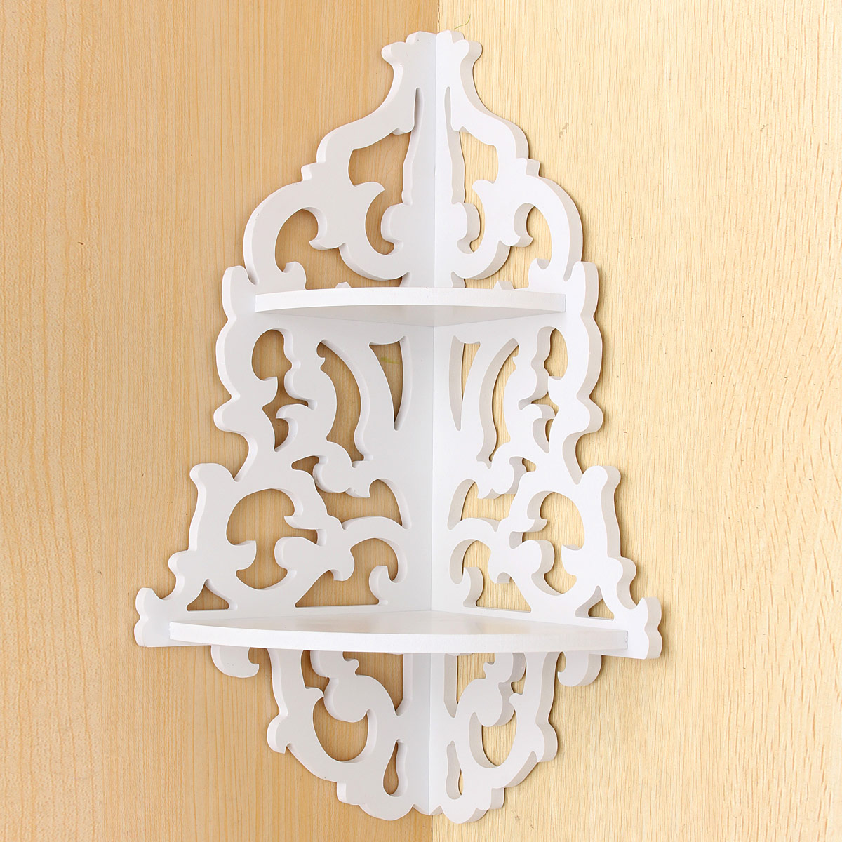 Wall Shelves Display Shelf Unit Chic Filigree Style Shelves Cut Out Design NEW