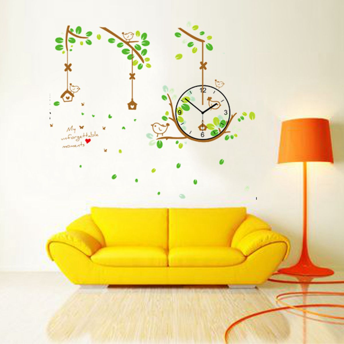 Modern Art Decor Wall Clock Sticker : D diy modern wall clock stickers decal art decor home