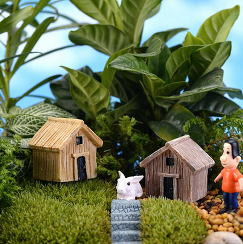 Resin Craft Plant Pots Garden Ornament Miniature Figurine Fairy Dollhouse Decor