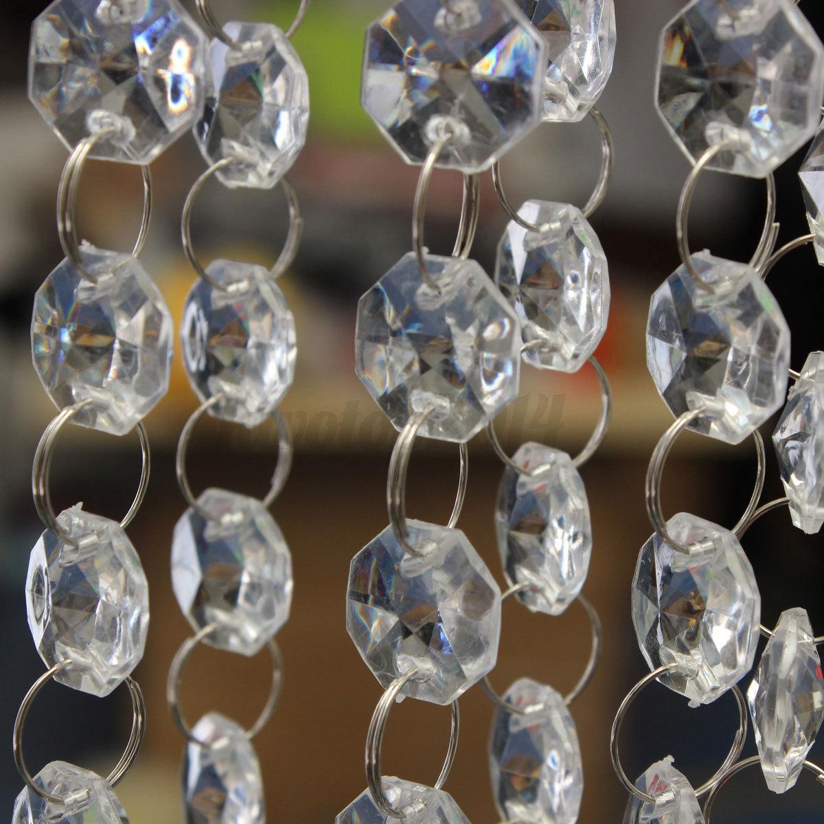 10m kristall kette perlenvorhang t r fenster hochzeit wohnung party deko diy p14 ebay. Black Bedroom Furniture Sets. Home Design Ideas