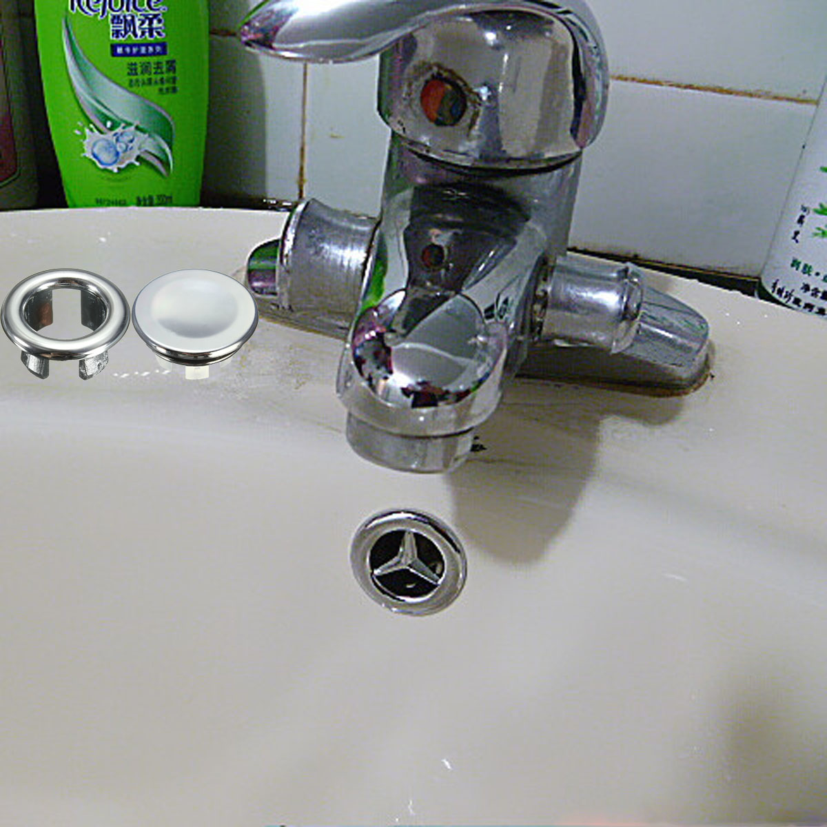 3 Types Round Overflow Cover Bathroom Basin Spare Sink