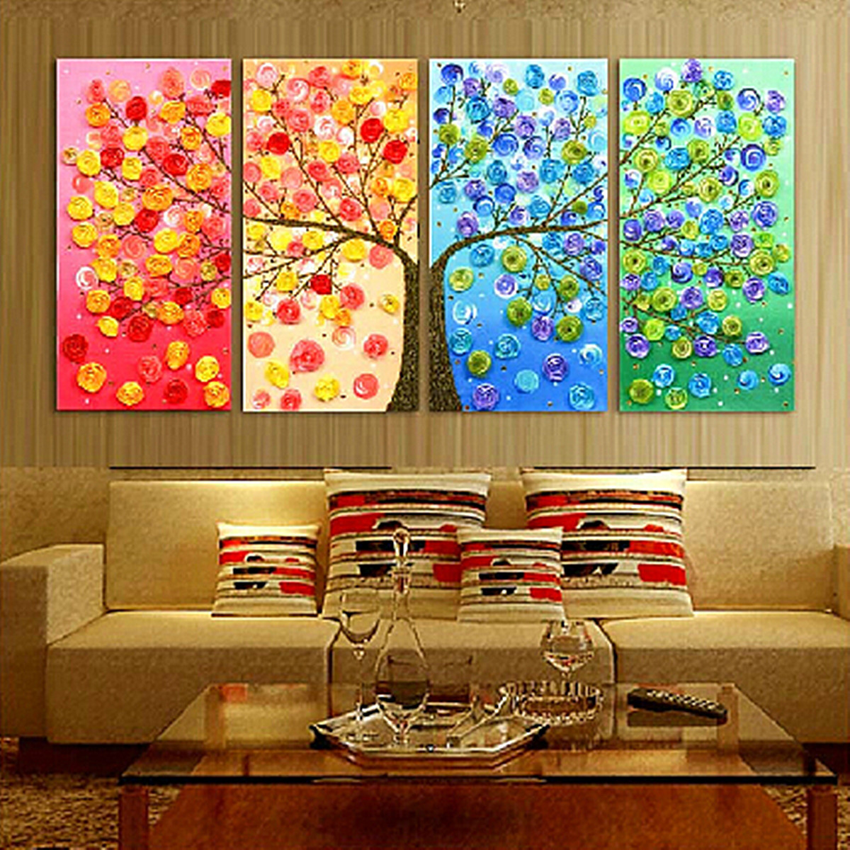 stickpackung kreuzstich stickbild stickvorlage bunte baum handarbeiten haus deko ebay. Black Bedroom Furniture Sets. Home Design Ideas