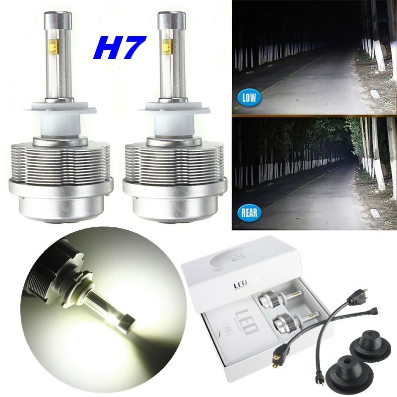 2x H1 H3 H7 H8 H9 H11 9005 9006 60W ETI LED SMD Head Light Bulb HID White