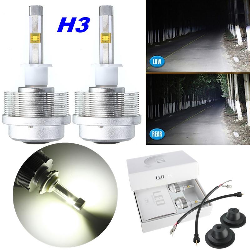 2x 60W LED H1 H3 H7 H8 H9 H11 9005 9006 HID ETI Scheinwerfer 7200LM IP68