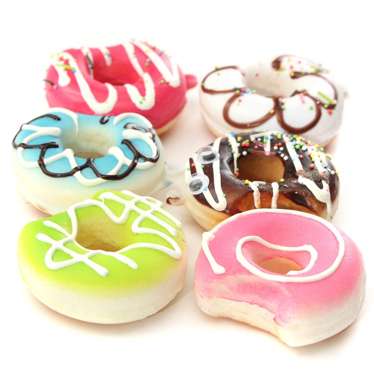 5CM Kawaii Bite me Donut Soft Cute Squishy Bread Keychain Bag Phone Charm Strap eBay