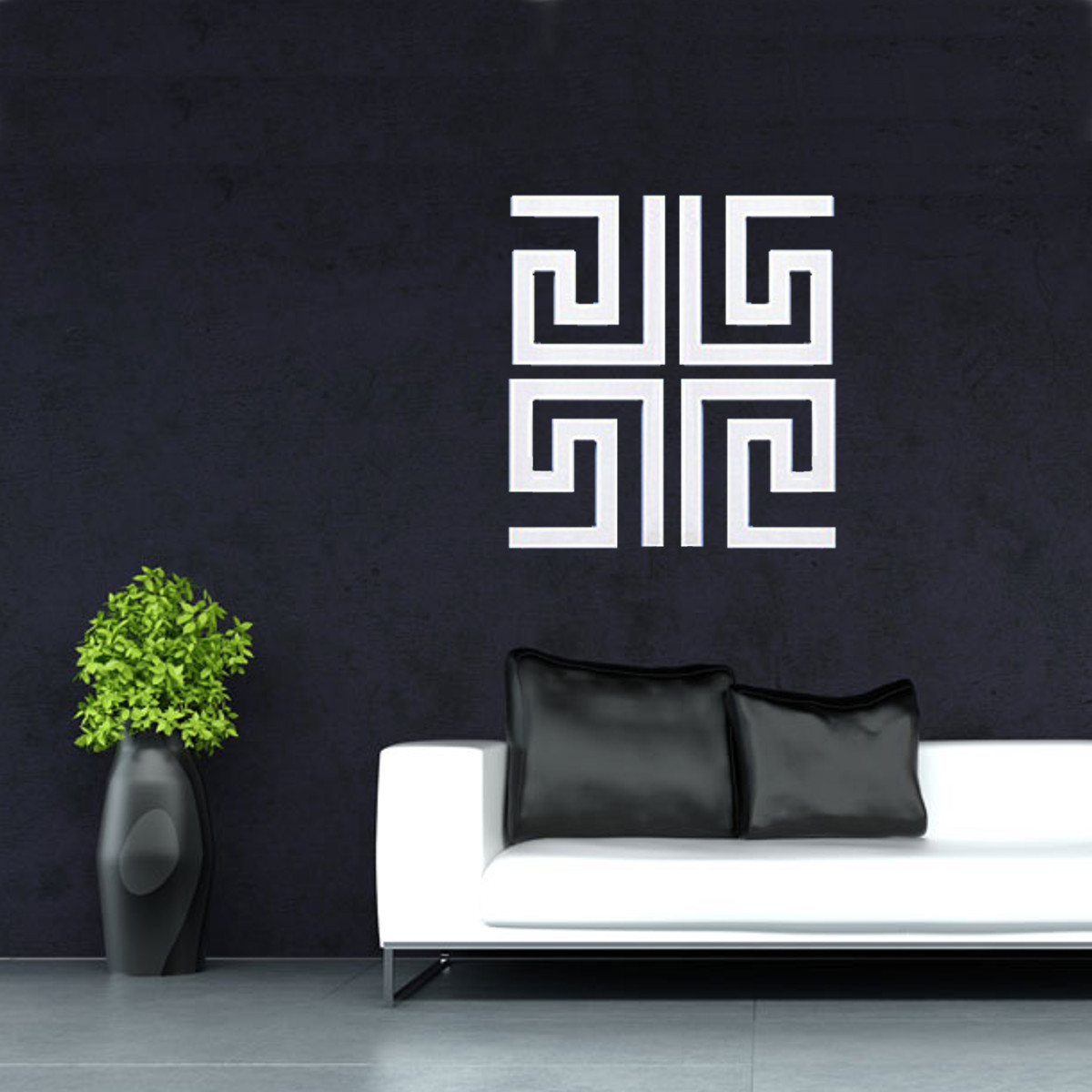 3d Diy Silver Mirror Removable Wall Stickers Home Room