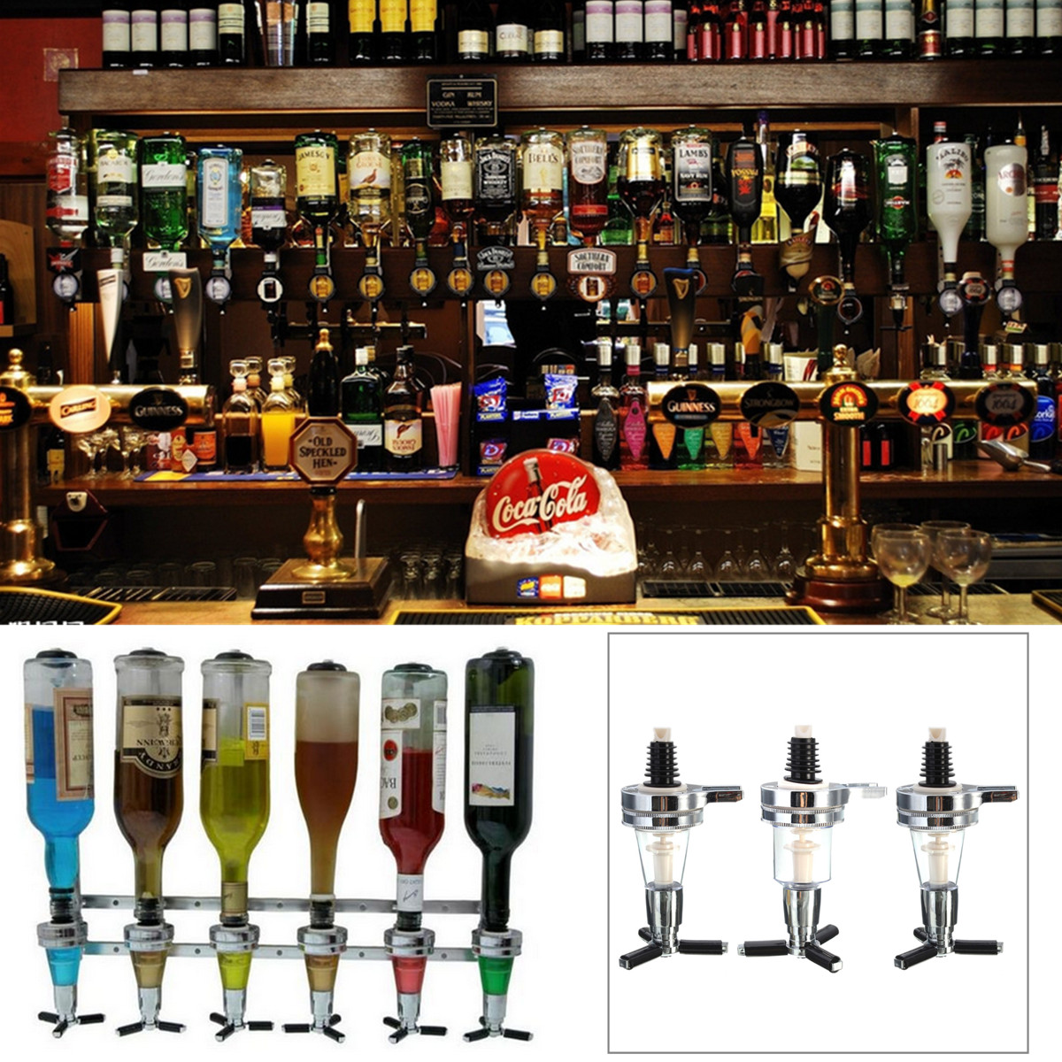 Bar Butler Wall Mounted Wine Alcohol Liquor Cocktail Beer Shot Dispenser Bottle