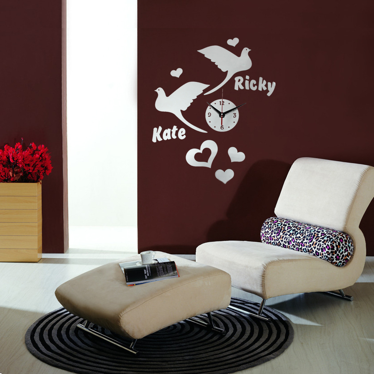 Diy Large Wall Mirror Modern Acrylic Mirror Surface Diy Large Wall Clock Sticker Home