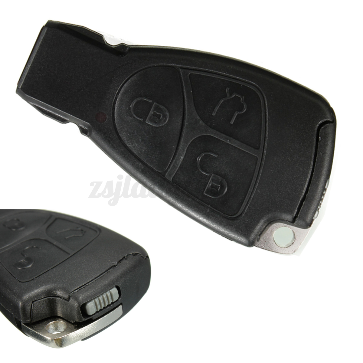 3 button key remote fob case for mercedes benz c ml e clk for Mercedes benz key fob battery size
