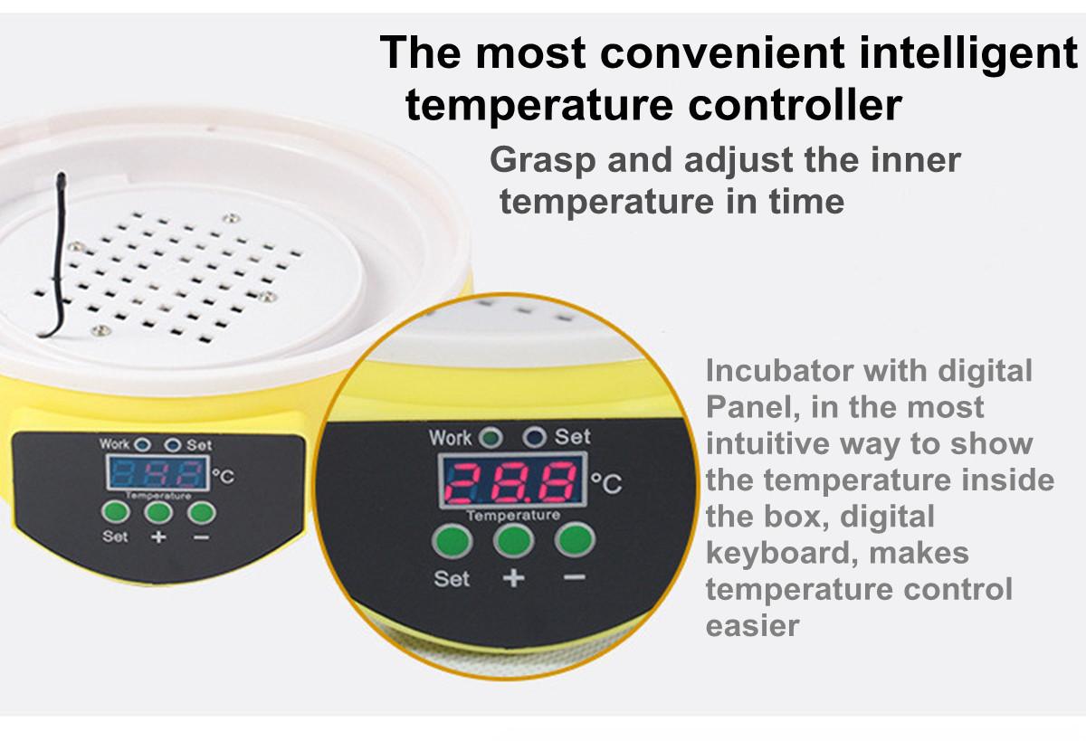 Egg Incubator Hatcher Digital Clear Temperature Control Automatic  #B69C15