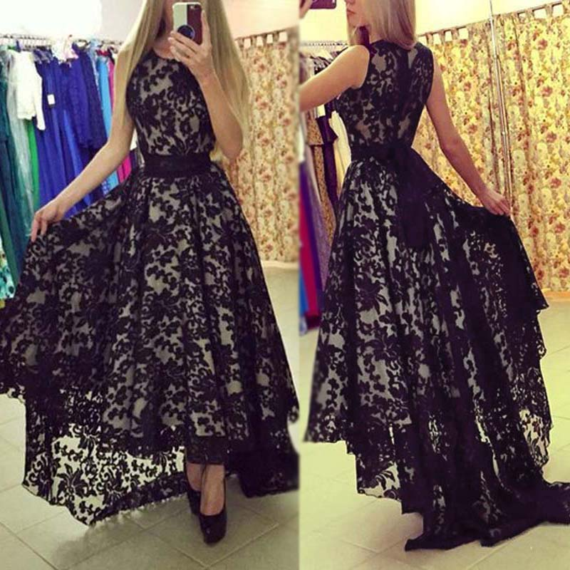 Ladies Lace Long Maxi Evening Formal Party Cocktail Dress Bridesmaid Prom Gown