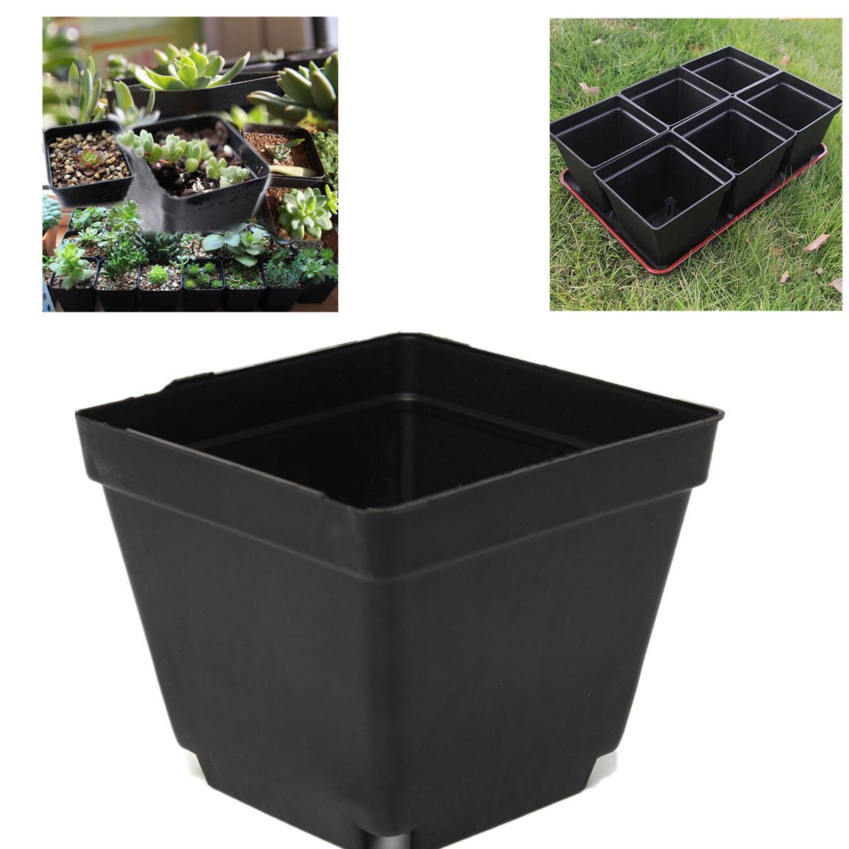 "3.5"" Inch Square Black Plastic Nursery Pots Seedlings ..."
