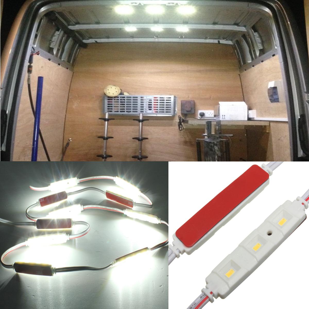 Car Light Kit Interior 12v White 30 Led For Lwb Van Sprinter Ducato Transit Vw Ebay