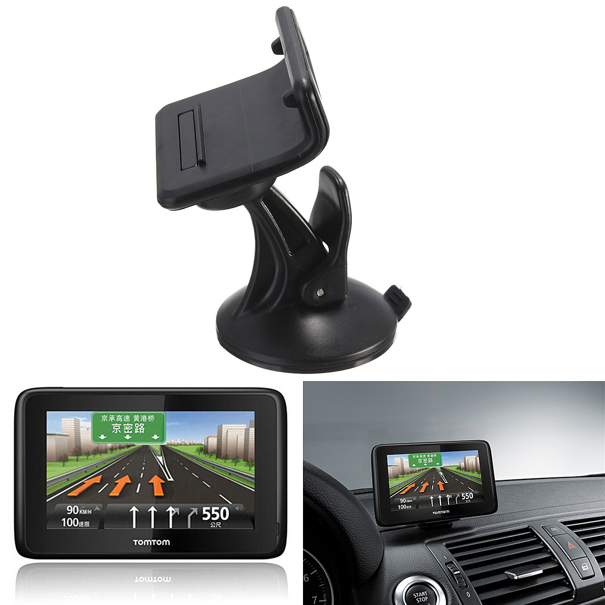 car windscreen suction mount gps holder for tomtom go 1000. Black Bedroom Furniture Sets. Home Design Ideas