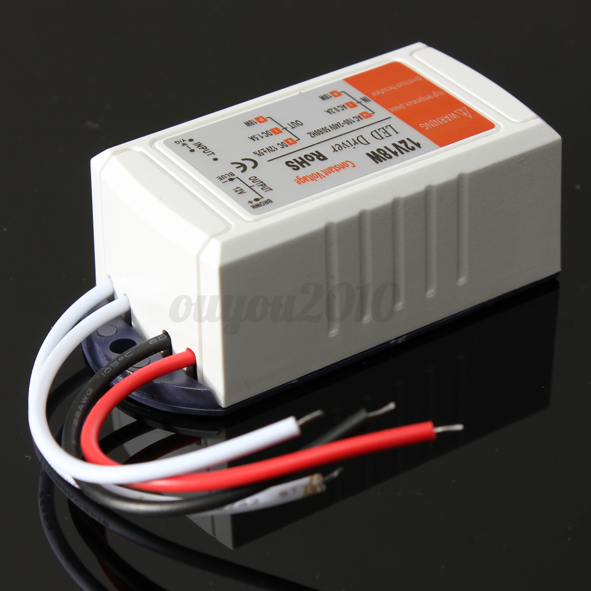12v dc18w power supply led driver adapter transformer. Black Bedroom Furniture Sets. Home Design Ideas
