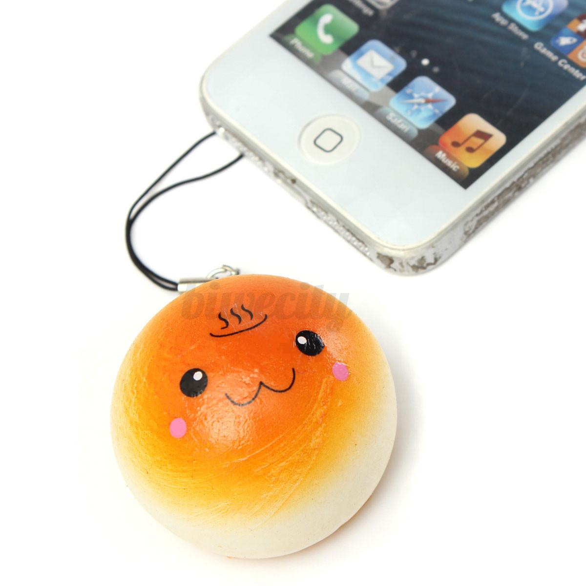 Random Squishy Cute Soft Panda/Bread/Donut Phone Keychain 10pcs eBay
