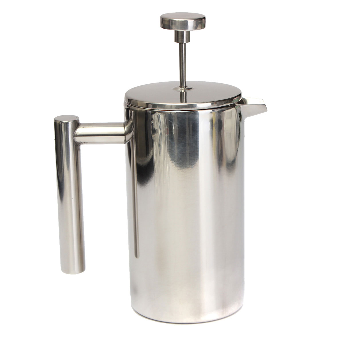 Tea Coffee Maker French Press : 350ml Double Wall Stainless Steel Coffee Fliter Plunger French Press Tea Maker eBay