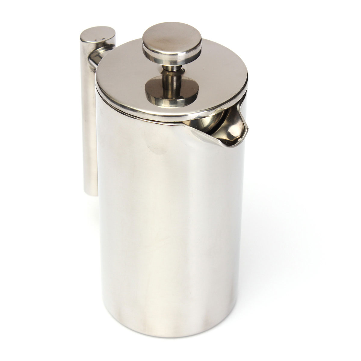 350ml double wall stainless steel coffee fliter plunger french press tea maker ebay. Black Bedroom Furniture Sets. Home Design Ideas