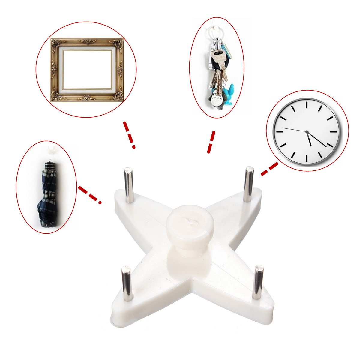 Plastic hard wall picture photos mirror frame hanging hook for Mirror hooks