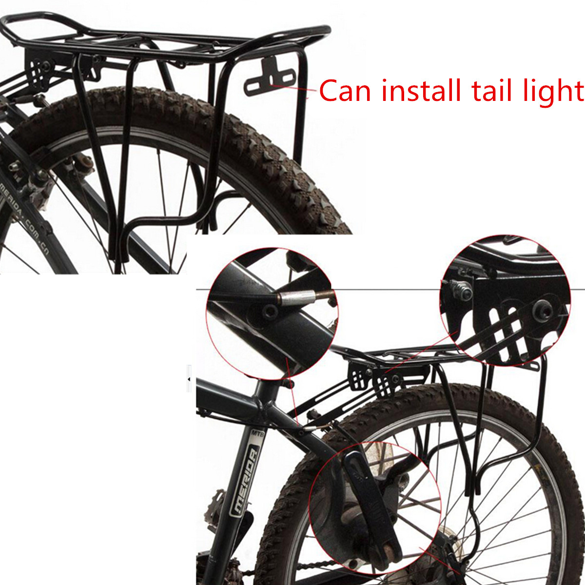 Extendable Bike Rack : Cycling bicycle extendable bike luggage seat post pannier